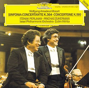 W.A. Mozart / Sinfonia Concertante / Concert for 2 Violins / Itzhak Perlman / Pinchas Zukerman / Israel Philharmonic Orchestra / Zubin Mehta
