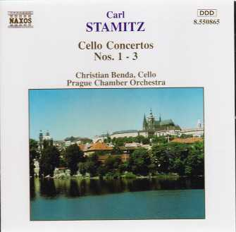 Carl Stamitz / Cello Concertos Nos. 1-3 / Prague Chamber Orchestra / Christian Benda