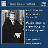 Ludwig van Beethoven / Piano Works vol. 11 / Artur Schnabel