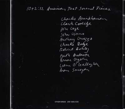 10+2: 12 American Text Sound Pieces // Charles Amirkhanian / John Cage / Charles Dodge / Robert Ashley