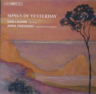 Songs of Yesterday / Dan Laurin & Anna Paradiso