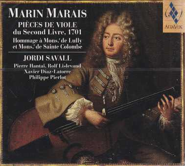 Marin Marais / Pieces de viole du second livre, 1701 / Jordi Savall