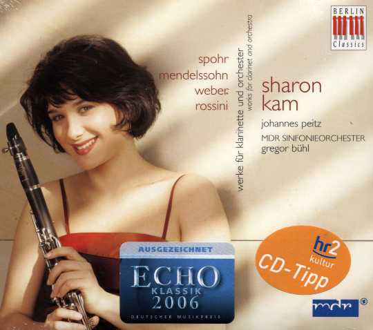 Carl Maria von Weber / Clarinet Concerto / Felix Mendelssohn / Louis Spohr / Gioachino Rossini / Works for clarinet and orchestra / Sharon Kam / MDR SO / Gregor Buhl
