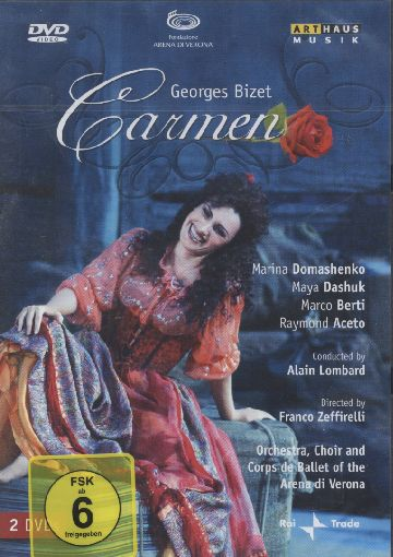 Georges Bizet / Carmen / Marina Domashenko / Maya Dashuk / Orchestra, Choir and Corps de Ballett of the Arena di Verona / Alain Lombard DVD