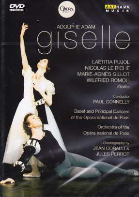 Adolphe Adam / Giselle / Laëtitia Pujol / Nicolas Le Riche / Opéra national de Paris / Paul Connelly DVD