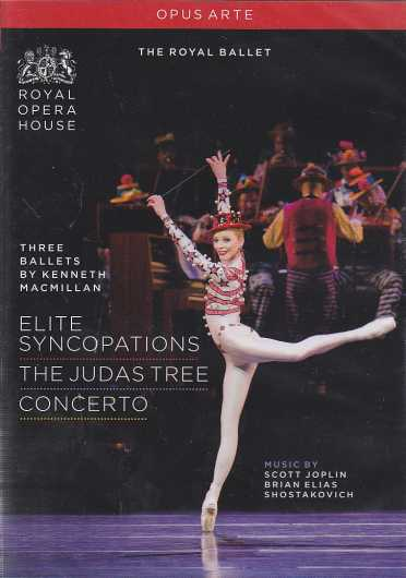 Three Ballets by Kenneth MacMillan: Elite Syncopations, The Judas Tree & Concerto DVD