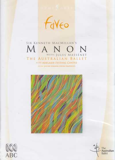 Jules Massenet / Manon / The Australian Ballet /  Noel Smith DVD