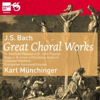J.S. Bach / Great Choral Works (St. Matthew Passion / St. John Passion / Mass in B minor / Christmas Oratorio) / Stuttgarter Kammerorchester / Karl Münchinger 8CD