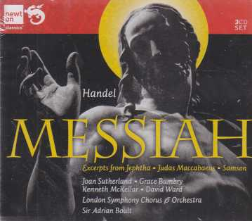 Georg Friedrich Händel / Messiah / Joan Sutherland / Grace Bumbry / London Symphony Chorus & Orchestra / Sir Adrian Boult 3CD