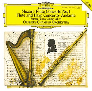 W.A. Mozart / Concerto for flute & harp / Susan Palma / Nancy Allen / Orpheus Chamber Orchestra