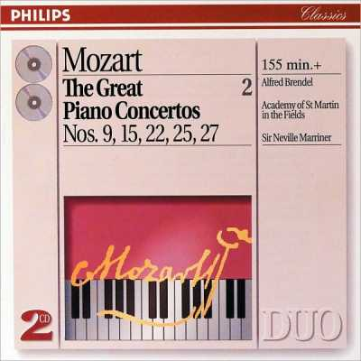 W.A. Mozart / Piano Concertos 9, 15, 22 etc. (Great Piano Concertos vol. 2) / Alfred Brendel / ASMF / Sir Neville Marriner