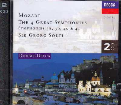 W.A. Mozart / Symphonies 38-41 / Chicago Symphony Orchestra / Chamber Orchestra of Europe / Sir Georg Solti