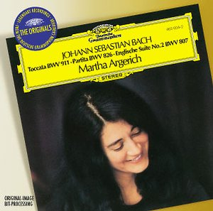 J.S. Bach / Toccata BWV 911 / Partita BWV 826 / English Suite No. 2 / Martha Argerich