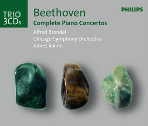 Ludwig van Beethoven / Piano Concertos (Complete) / Choral Fantasy / Alfred Brendel / CSO & LSO / James Levine & Bernard Haitink 3CD