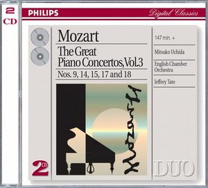 W.A. Mozart / Piano Concertos 9, 14, 15 etc. (Great Piano Concertos Vol. 3) / Mitsuko Uchida / English Chamber Orchestra / Jeffrey Tate