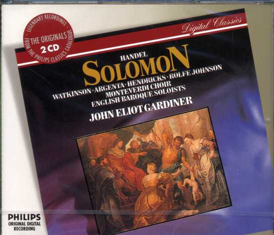 Georg Friedrich Händel / Solomon / Carolyn Watkinson / Barbara Heindricks / English Baroque Soloists / John Eliot Gardiner