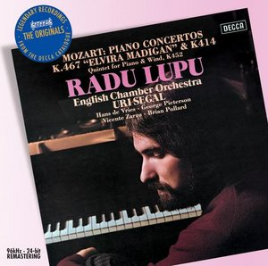 W.A. Mozart / Piano Concertos 21 & 12 / Quintet for piano & winds / Radu Lupu / English Chamber Orchestra / Uri Segal