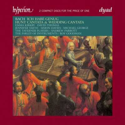 J.S. Bach / Cantatas Nos 82, 202, 208 / Emma Kirkby / David Thomas / The Taverner Players / Roy Goodman