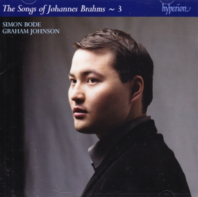 Johannes Brahms / Complete Songs vol. 3 / Simon Bode / Graham Johnson