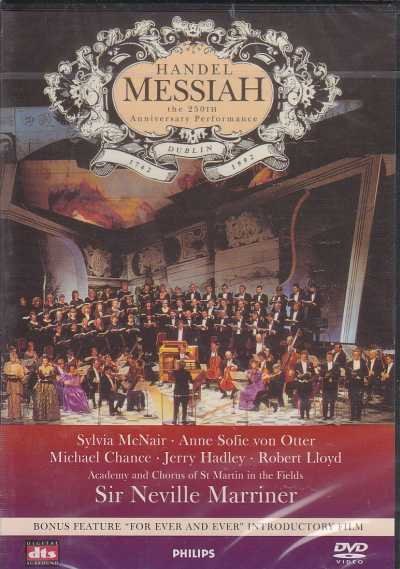 Georg Friedrich Händel / Messiah / Sylvia McNair / Anne Sofie von Otter / Academy and Chorus of St Martin in the Fields / Sir Neville Marriner DVD