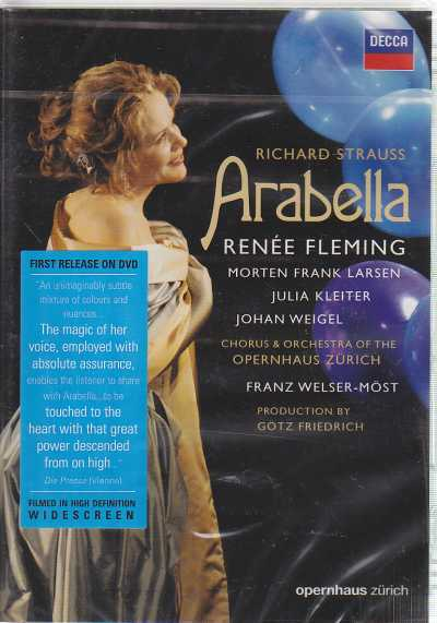 Richard Strauss / Arabella / Renée Fleming / Morten Frank Larsen / Chorus & Orchestra of the Operhaus Zürich / Franz Welser-Möst DVD