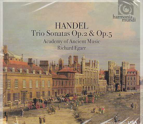 Georg Friedrich Händel / Trio Sonatas op. 2 & Op. 5 / Academy of Ancient Music / Richard Egarr 2CD