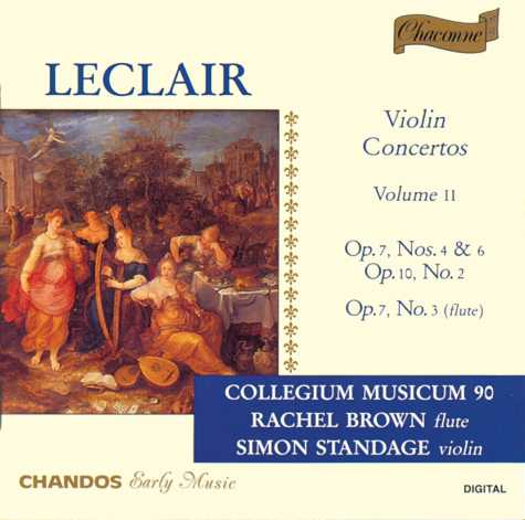 Jean-Marie Leclair / Violin Concertos Vol. 2 / Rachel Brown / Simon Standage / Collegium Musicum 90