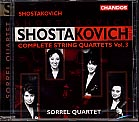 Dmitri Shostakovich / String Quartets 8, 9 & 13 / Sorrel Quartet