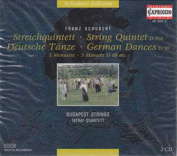 Franz Schubert / String Quintet / Deutsche Tänze / German Dances / Budapest Strings & Tatrai Quartett 2CD