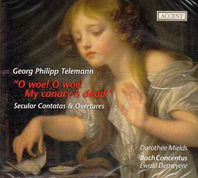 Georg Philipp Telemann / Secular Cantatas & Overtures / Dorothee Mields / Bach Concentus