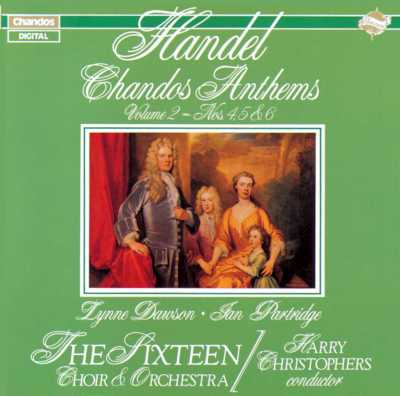 Georg Friedrich Händel / Chandos Anthems vol. 2 / The Sixteen / Harry Christophers