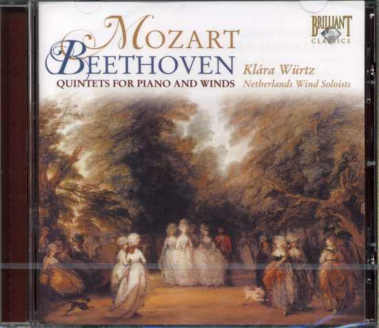 W.A. Mozart, Ludwig van Beethoven / Quintets for Piano and Winds / Netherlands Wind Soloists / Klára Würtz
