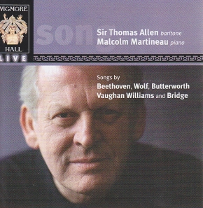 Thomas Allen & Malcolm Martineau / Beethoven, Wolf, Butterworth, Vaughan Williams & Bridge
