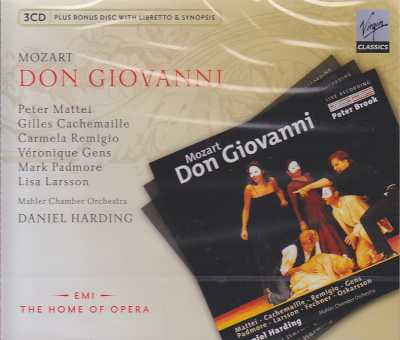 W.A. Mozart / Don Giovanni / Peter Mattei / Gilles Cachemaille / Veronique Gens / Mark Padmore / Daniel Harding 3CD
