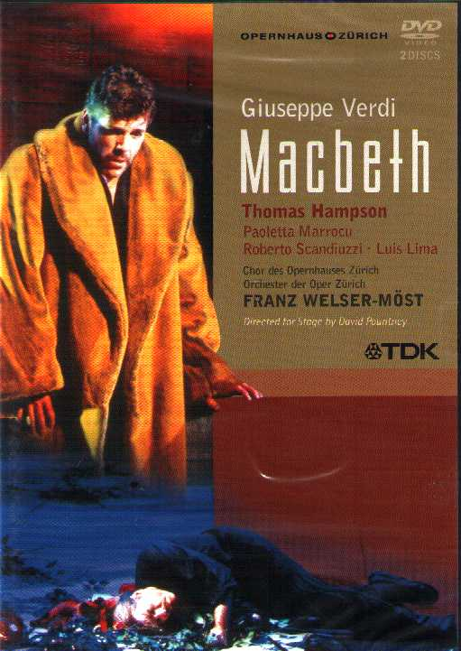 Giuseppe Verdi / Macbeth / Thomas Hampson / Paoletta Marrocu / Zürich Opera DVD