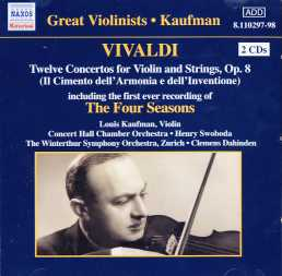 Antonio Vivaldi / The Four Seasons / Louis Kaufman