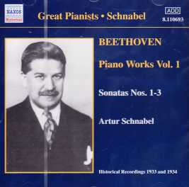 Ludwig van Beethoven / Piano Works Vol. 1 / Artur Schnabel