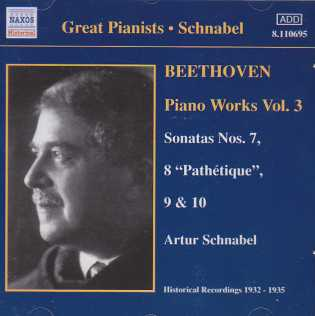 Ludwig van Beethoven / Piano Works Vol. 3 / Artur Schnabel