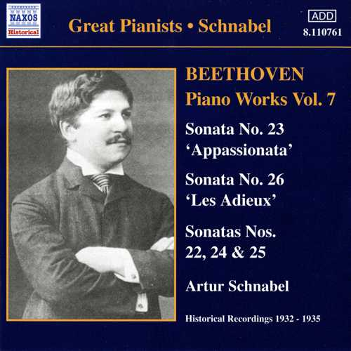Ludwig van Beethoven / Piano Works vol. 7 / Artur Schnabel