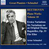 Ludwig van Beethoven / Piano Works vol. 10 / Artur Schnabel