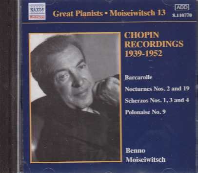 Frédéric Chopin / Piano Works / Benno Moiseiwitsch, vol. 3