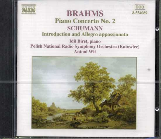 Johannes Brahms / Piano Concerto no. 2 / Robert Schumann / Introduction and Allegro appasionato / Idil Biret