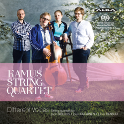 Kamus String Quartet / Different Voices // Jean Sibelius / Jouni Kaipainen / Jukka Tiensuu