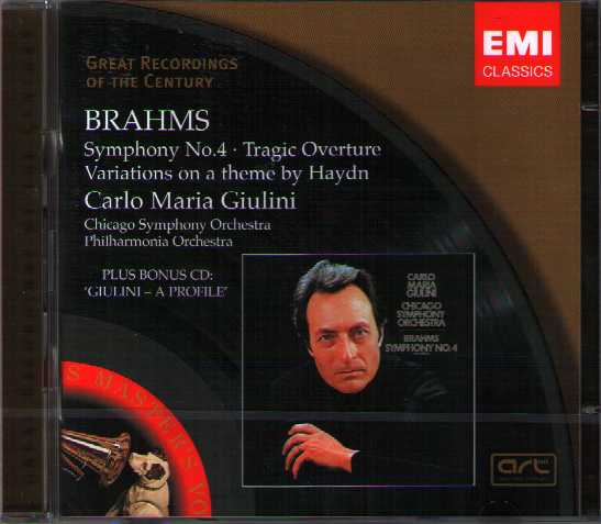 Johannes Brahms / Symphony no. 4 / Carlo Maria Giulini / Great Recordings of the Century