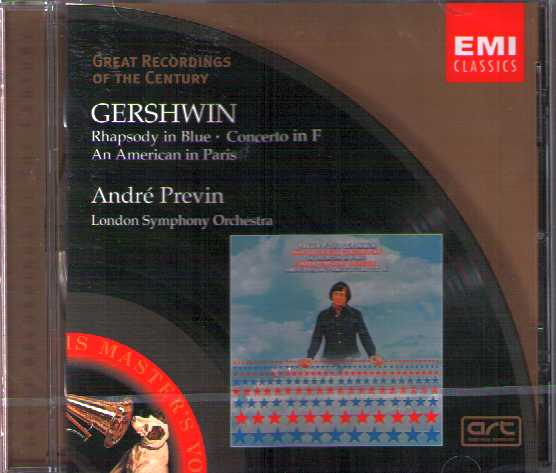 George Gershwin / Rhapsody in Blue / American in Paris / Piano Concerto // London Symphony Orchestra / André Previn