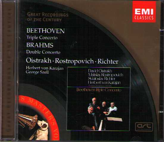 Ludwig van Beethoven / Triple Concerto / Johannes Brahms / Double Concerto / David Oistrakh / Mstislav Rostropovich / Sviatoslav Richter / Great Recordings of the Century