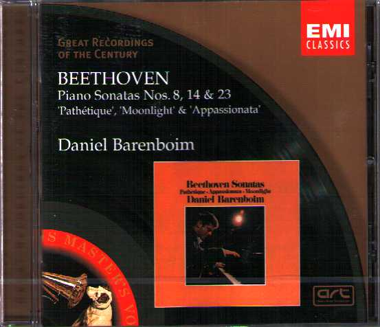 Ludwig van Beethoven / Piano Sonatas 8, 14 & 23 / Daniel Barenboim / Great Recordings of the Century