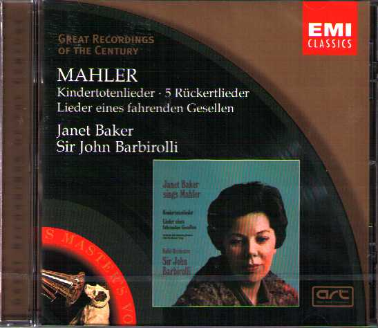 Gustav Mahler / Lieder / Janet Baker / Sir John Barbirolli / Great Recordings of the Century