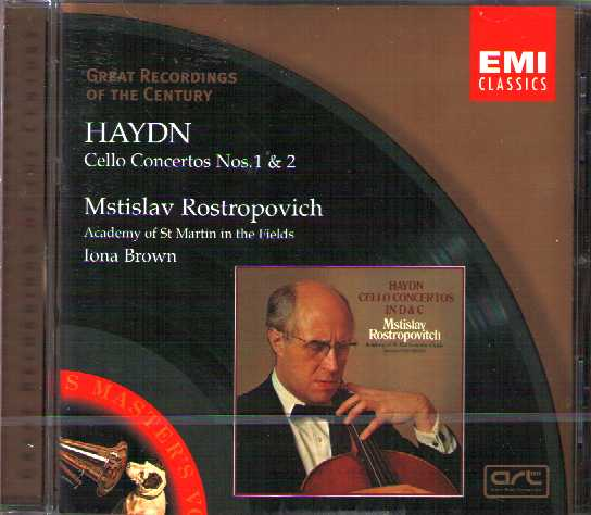 Joseph Haydn / Cello Concertos / Msistlav Rostropovich / Great Recordings of the Century