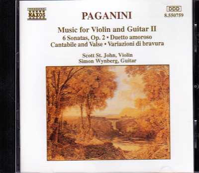 Niccolo Paganini / Music for Violin and Guitar II